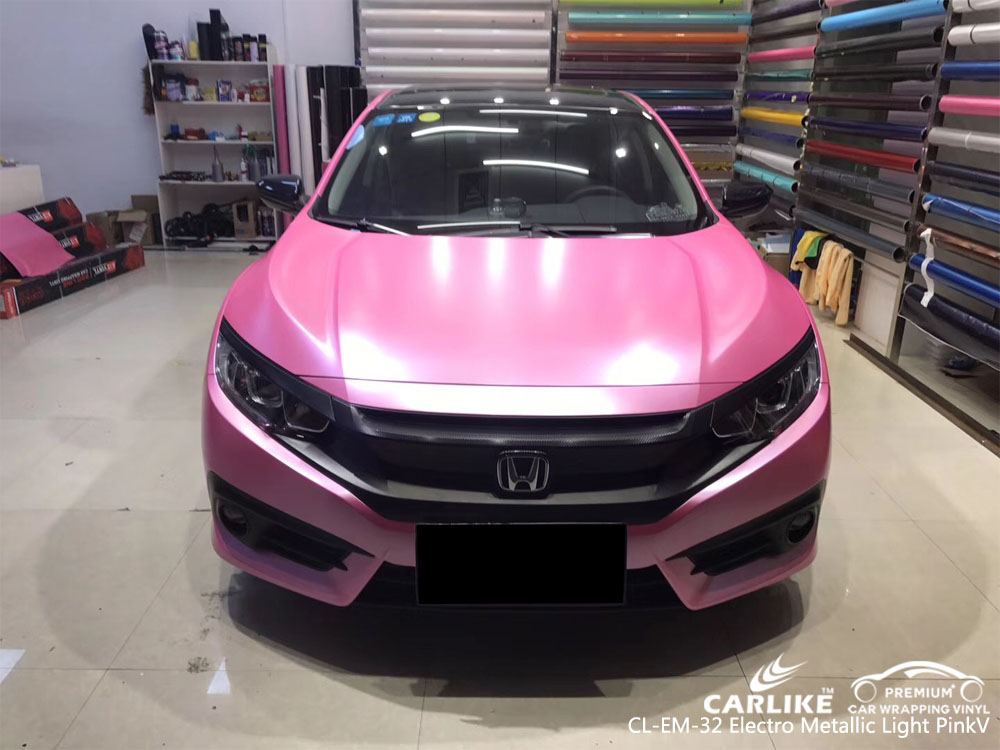 CARLIKE CL-EM-32 ELECTRO METALLIC LIGHT PINK CAR WRAP VINYL