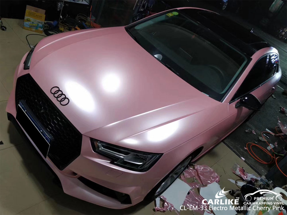 CARLIKE CL-EM-33 ELECTRO METALLIC CHERRY PINK CAR WRAP VINYL