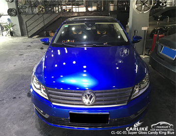 CARLIKE CL-GC-01 SUPER GLOSS CANDY KING BLUE CAR WRAP VINYL For Volkswagen