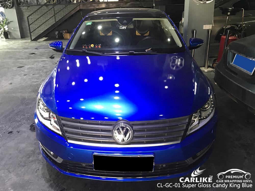 CARLIKE CL-GC-01 SUPER GLOSS CANDY KING BLUE CAR WRAP VINYL