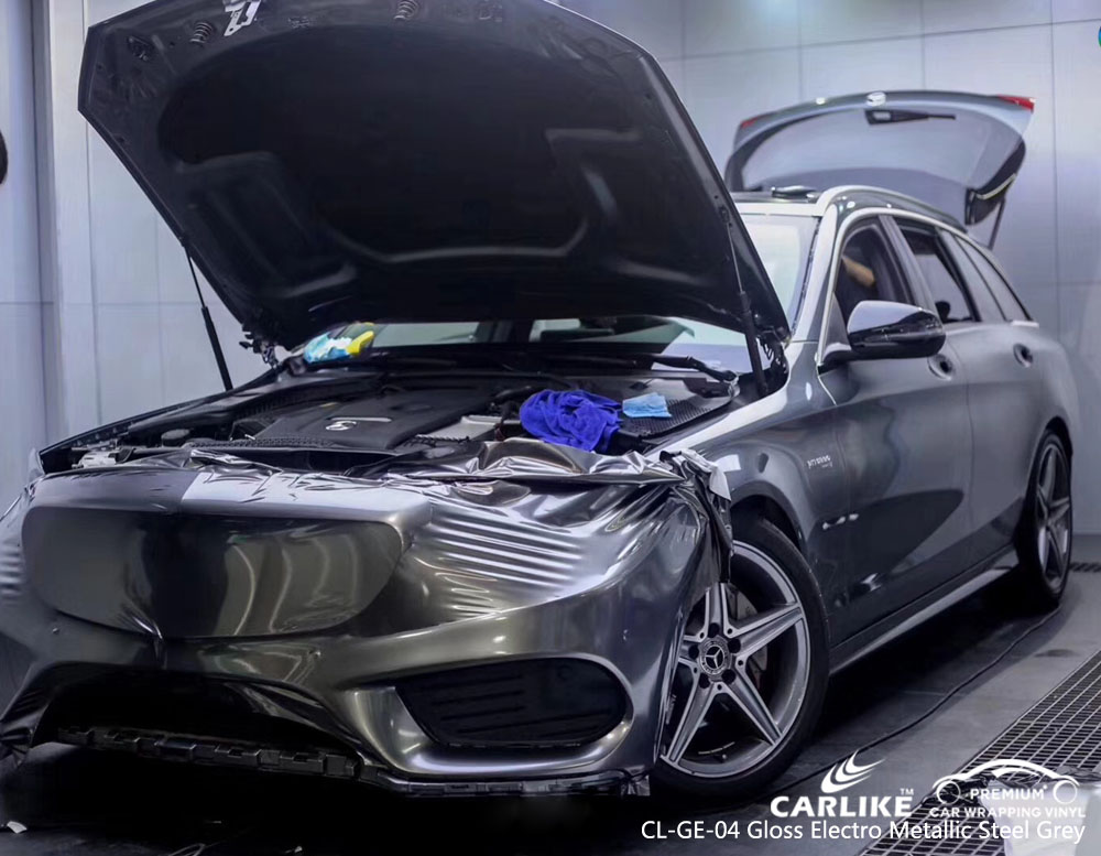CARLIKE CL-GE-04 ELECTRO METALLIC STEEL GREY CAR WRAP VINYL