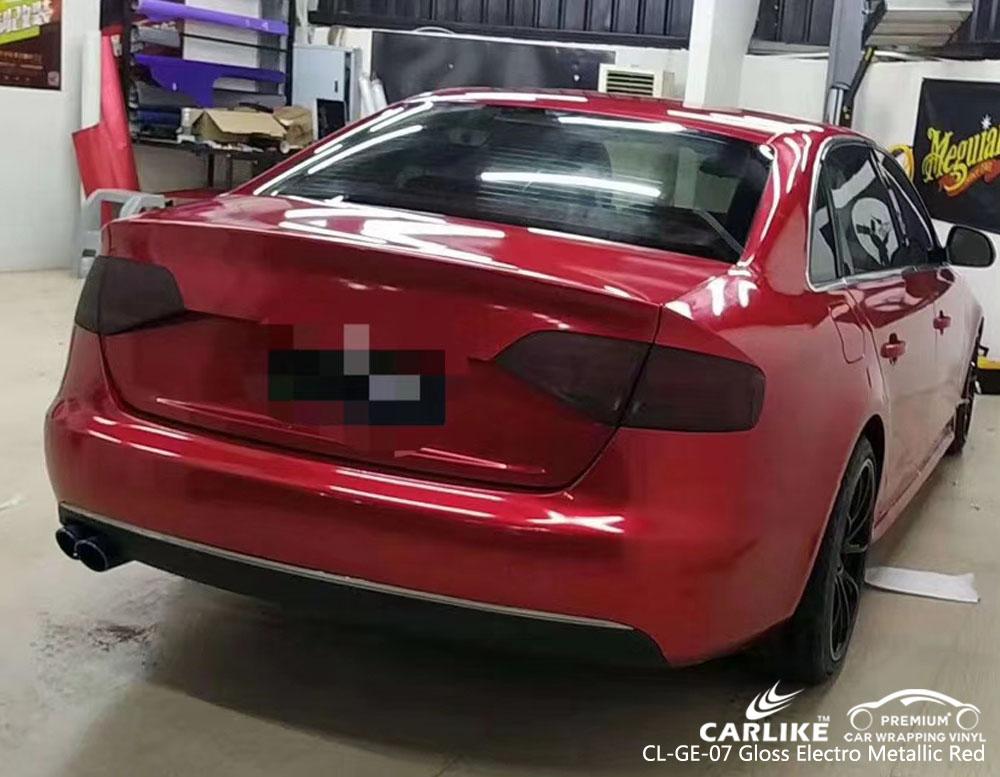 CARLIKE CL-GE-07 GLOSS ELECTRO METALLIC RED CAR WRAP VINYL