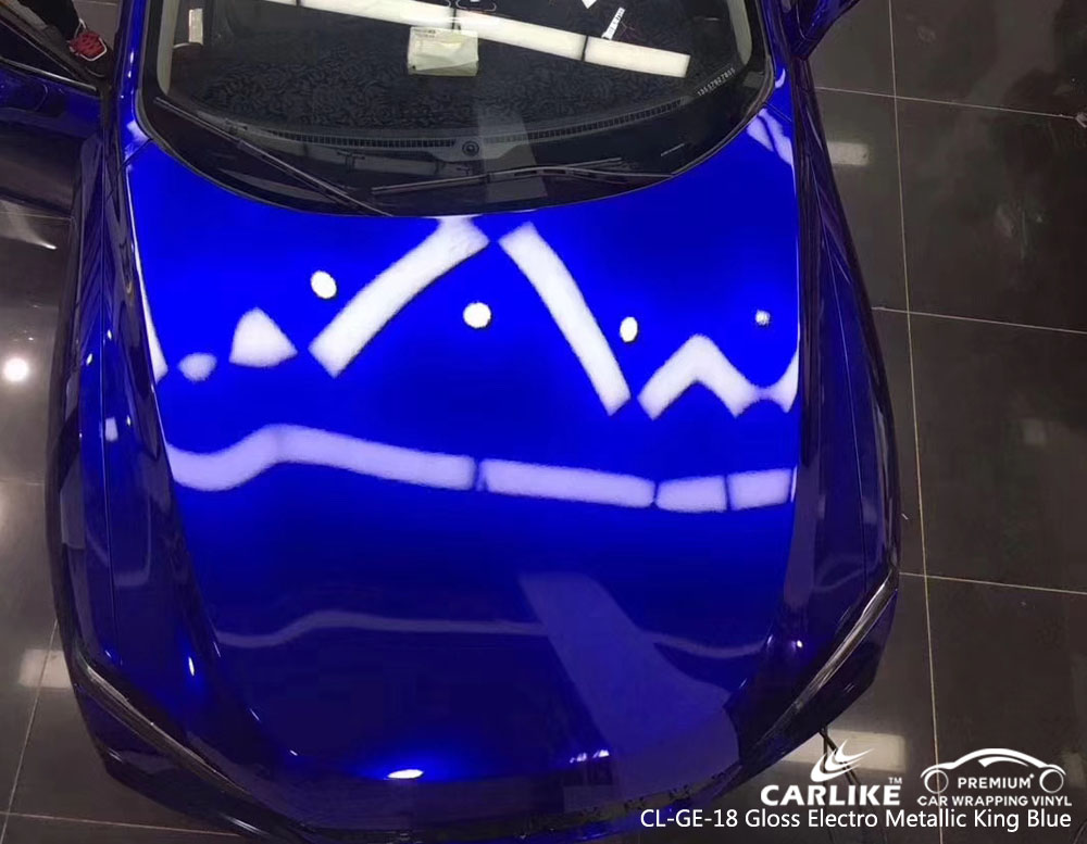 CARLIKE CL-GE-18 GLOSS ELECTRO METALLIC KING BLUE CAR WRAP VINYL