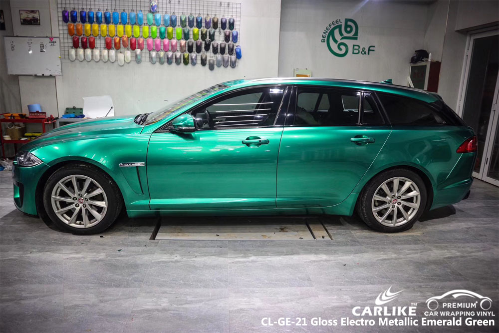 CARLIKE CL-GE-21 GLOSS ELECTRO METALLIC EMERALD GREEN CAR WRAP VINYL