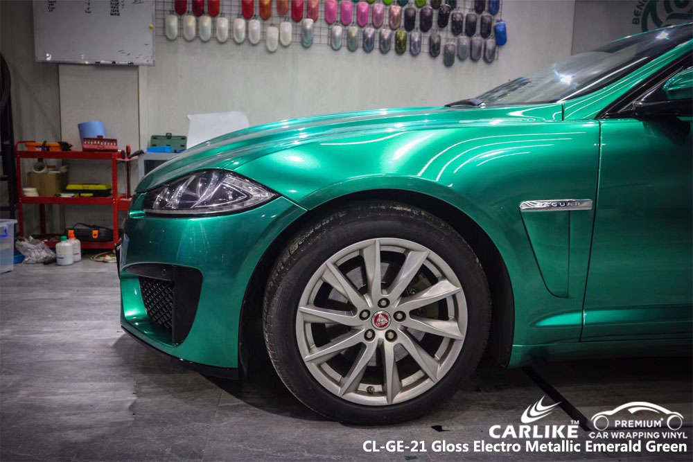 CARLIKE CL-GE-21 GLOSS ELECTRO METALLIC EMERALD GREEN CAR WRAP VINYL