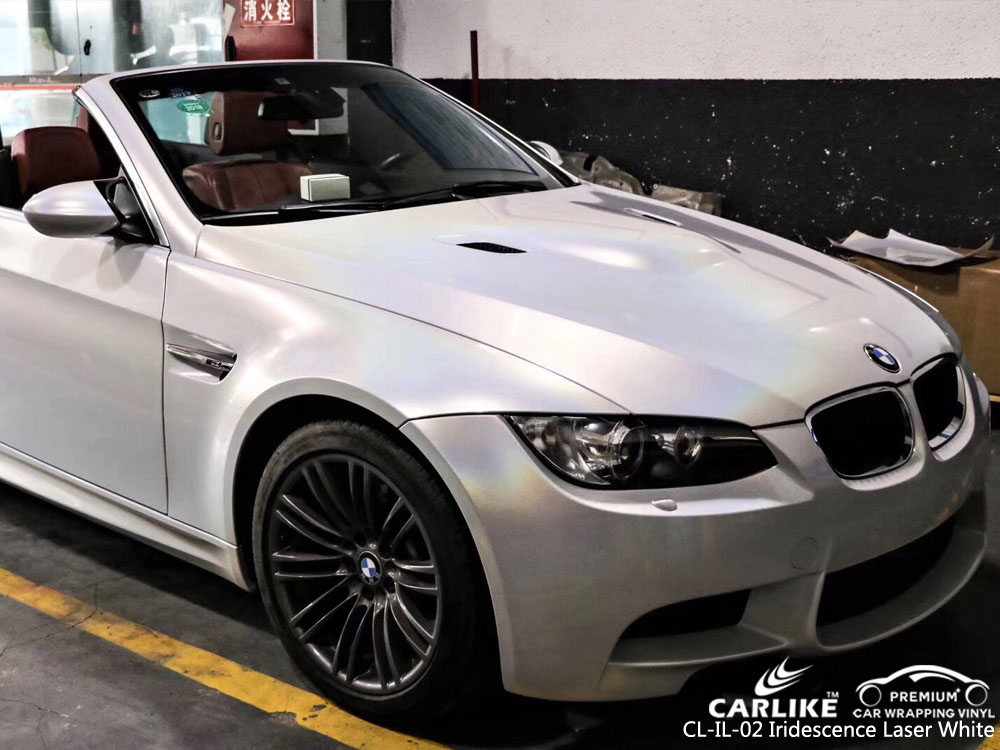 CARLIKE CL-IL-02 IRIDESCENCE LASER WHITE VINYL ON BMW
