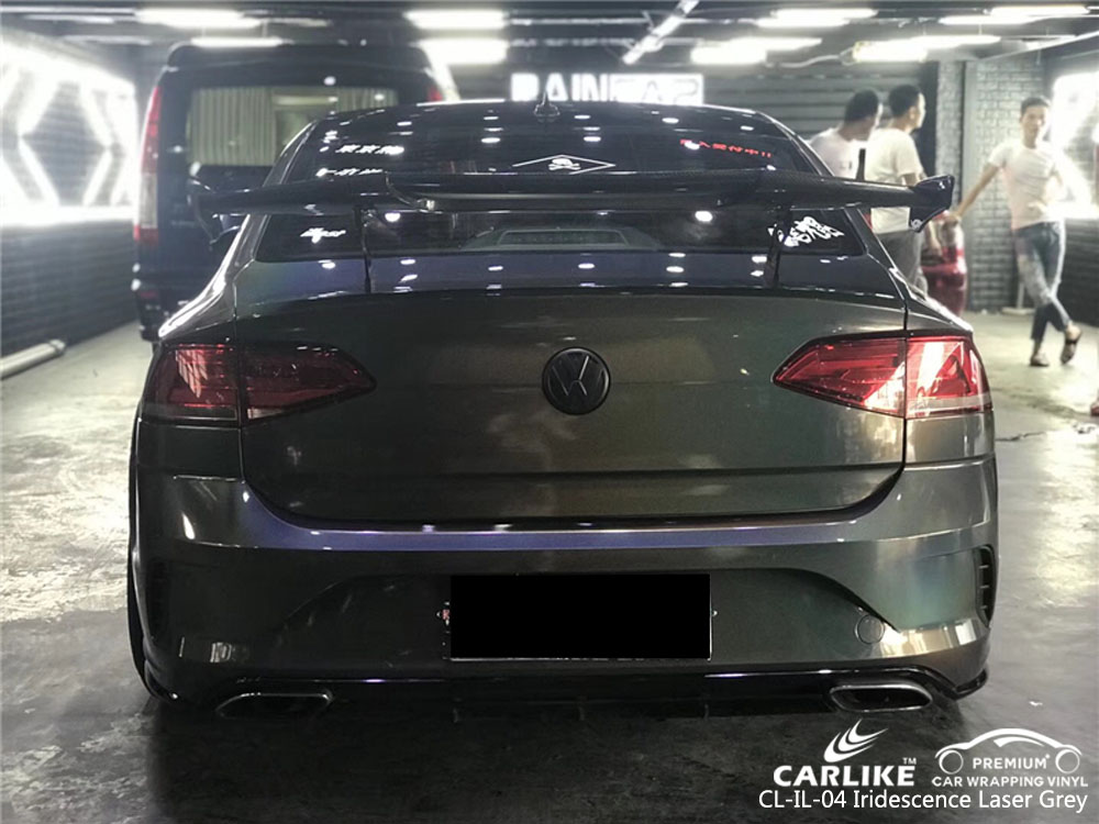 CARLIKE CL-IL-04 IRIDESCENCE LASER GREY CAR WRAP VINYL