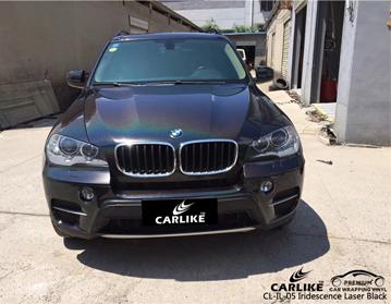 CARLIKE CL-IL-05 iridescência laser preto vinil para BMW