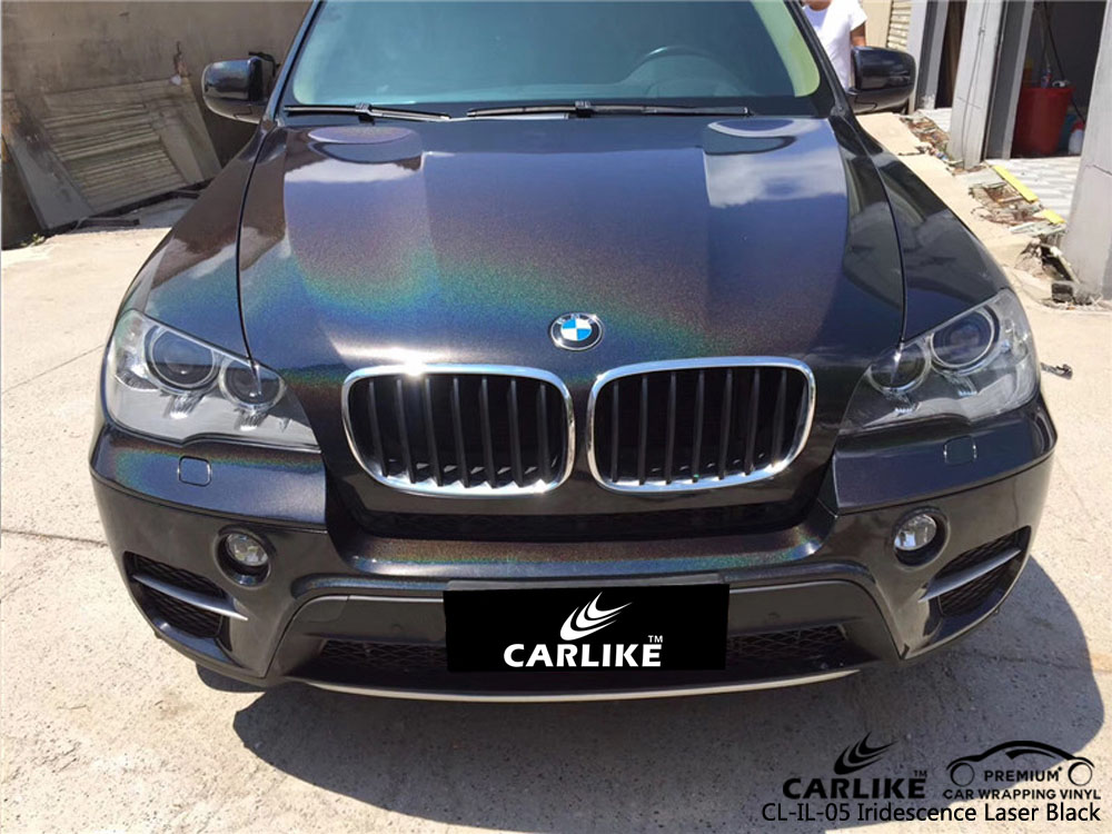 CARLIKE CL-IL-05 IRIDESCENCE LASER BLACK VINYL FOR BMW