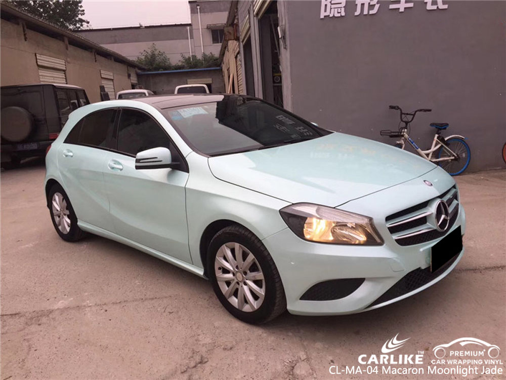 CARLIKE CL-MA-04 MACARON MOONLIGHT JADE VINYL ON BENZ