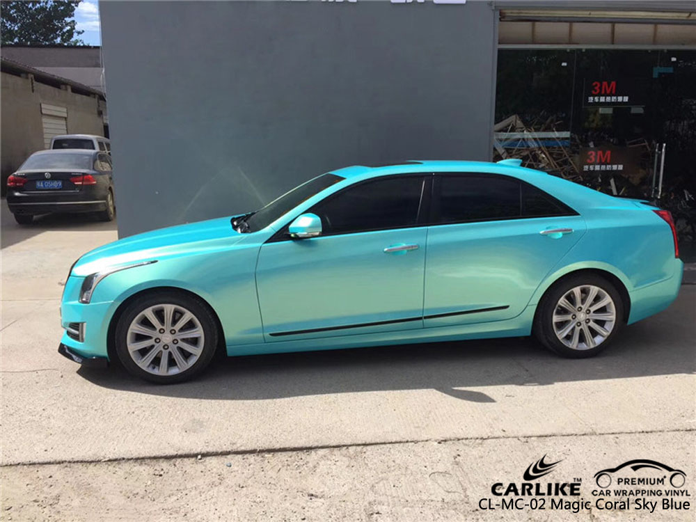 CARLIKE CL-MC-02 GLOSS MAGIC CORAL SKY BLUE VINYL