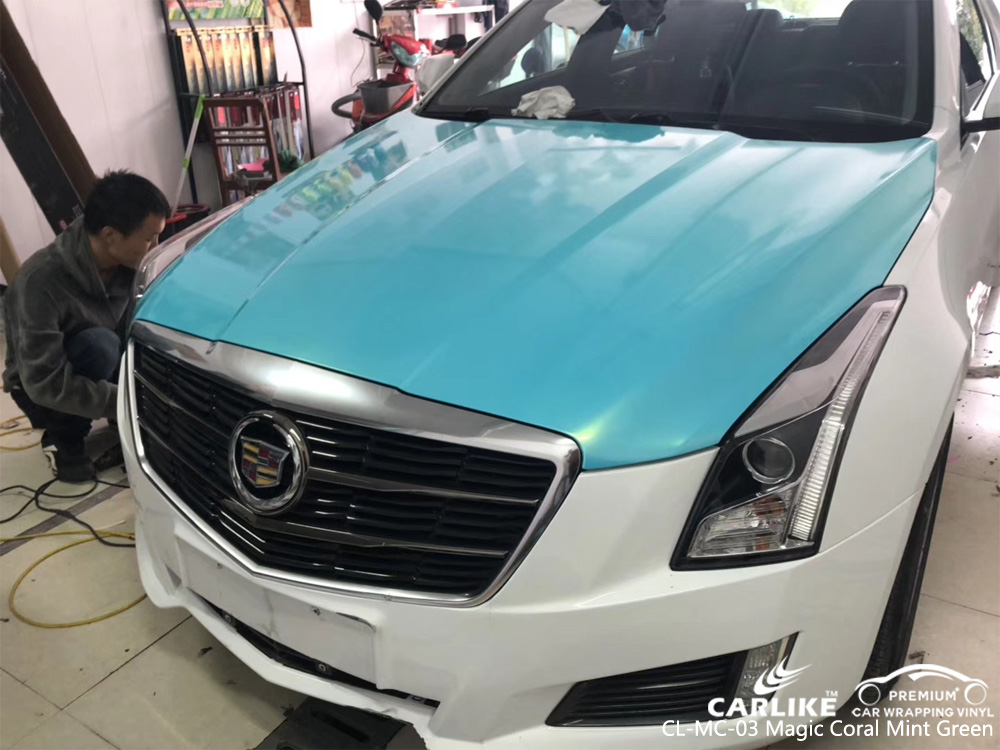CARLIKE CL-MC-03 GLOSS MAGIC CORAL MINT GREEN CAR VINYL WRAP