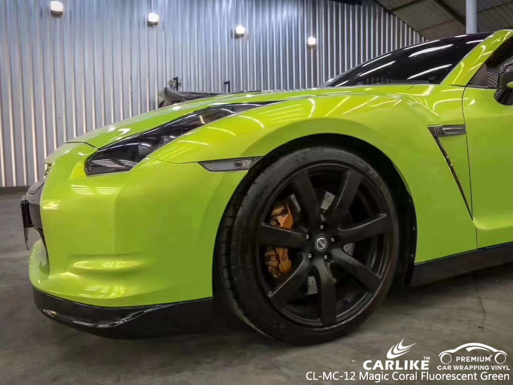 CARLIKE CL-MC-12 GLOSS MAGIC CORAL FLUORESCENT GREEN VINYL