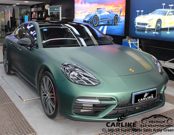 CARLIKE CL-MS-14 SUPER MATTE SATIN ARMY GREEN For Porsche