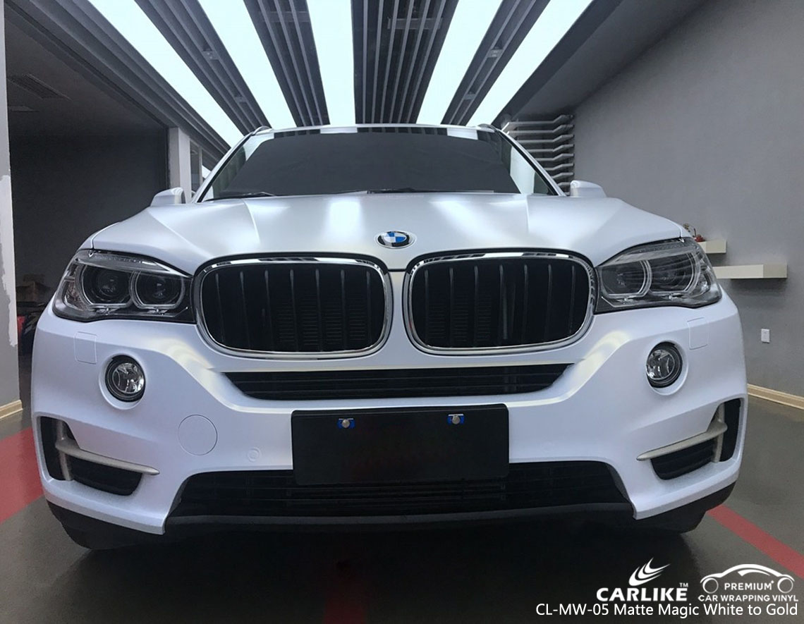CARLIKE CL-MW-05 MAGIC CHAMELEON MATTE WHITE TO GOLD VINYL FOR BMW