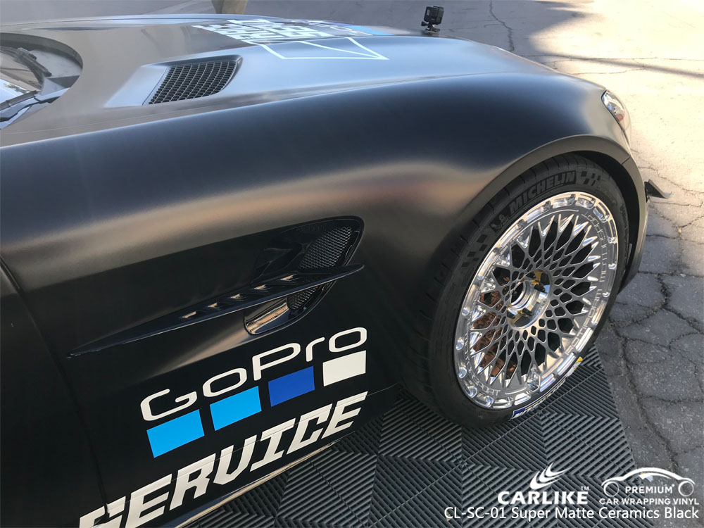 CARLIKE CL-SC-01 SUPER MATTE CARAMICS BLACK CAR WRAP VINYL