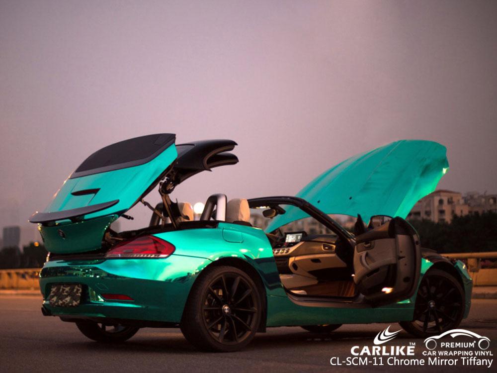 CARLIKE CL-SCM-11 CHROME MIRROR TIFFANY VINYL FOR BMW