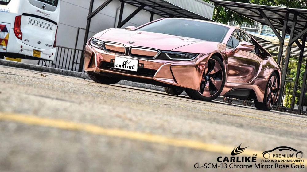 CARLIKE CL-SCM-13 CHROME MIRROR ROSE GOLD VINYL