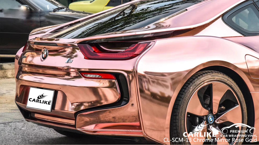Carlike Cl Scm 13 Chrome Mirror Rose Gold Vinyl For Bmw