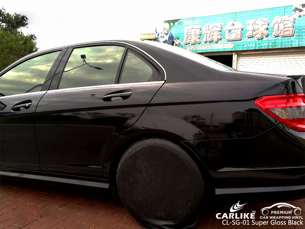 CARLIKE CL-SG-01 SUPER GLOSS BLACK CAR WRAP VINYL