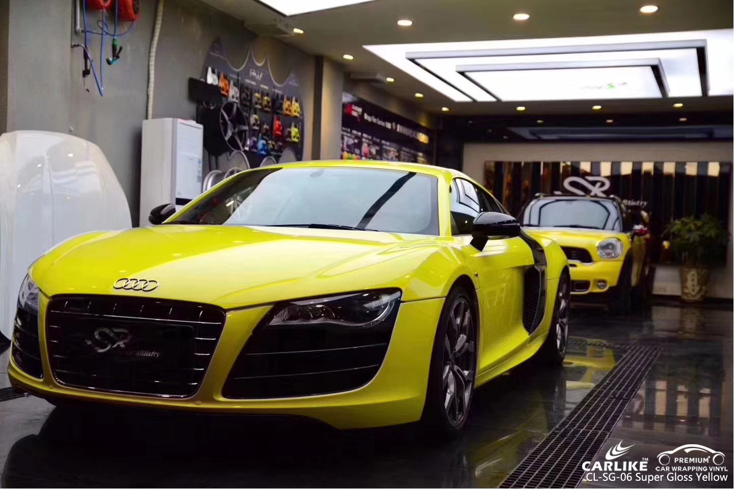 CARLIKE CL-SG-06 SUPER GLOSS YELLOW VINYL FOR AUDI
