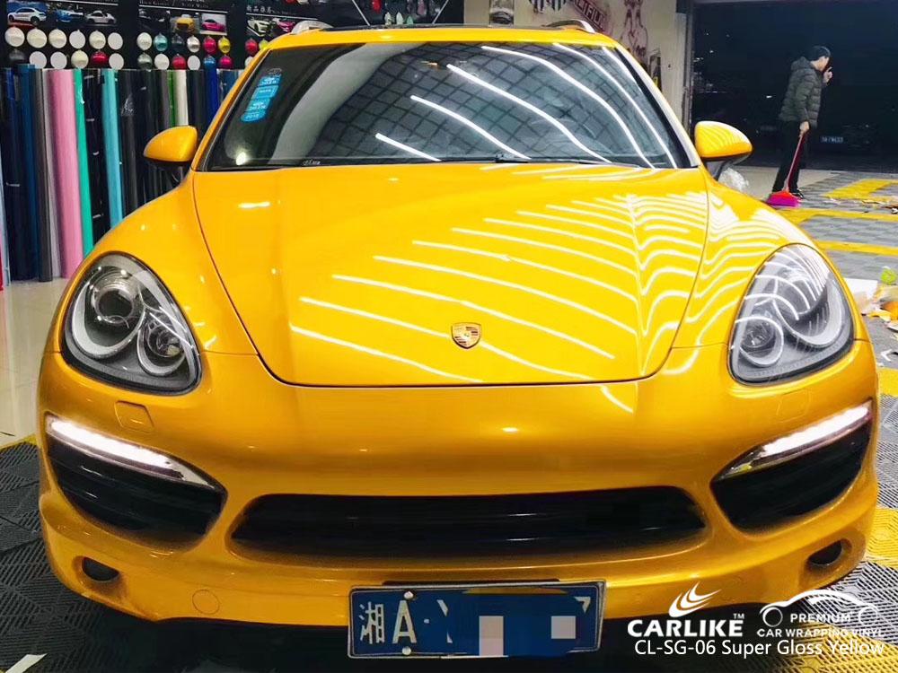 CARLIKE CL-SG-06 SUPER GLOSS YELLOW CAR WRAP VINYL
