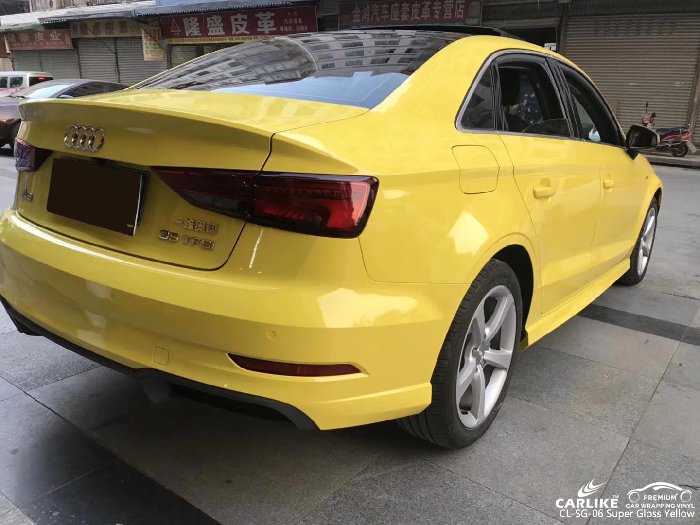 CARLIKE CL-SG-06 SUPER GLOSS YELLOW CAR FOR AUDI