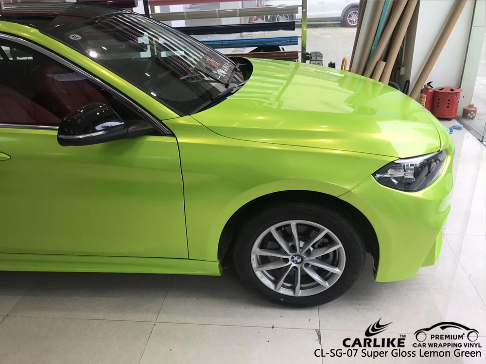 CARLIKE CL-SG-07 SUPER GLOSS LEMON GREEN CAR WRAP VINYL