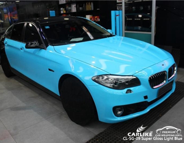 CARLIKE CL-SG-09 SUPER GLOSS LIGHT BLUE VINYL FOR BMW