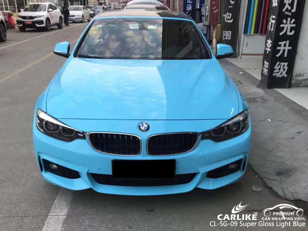 CARLIKE CL-SG-09 SUPER GLOSS LIGHT BLUE CAR WRAP VINYL