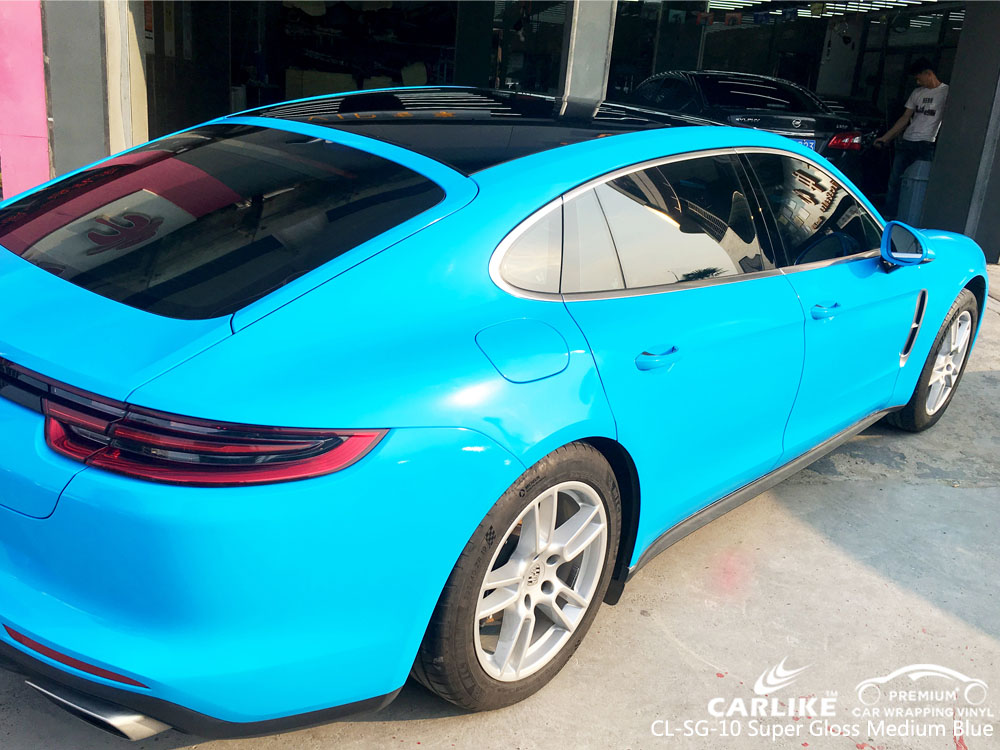 CARLIKE CL-SG-10 SUPER GLOSS MEDIUM BLUE VINYL FOR PORSCHE