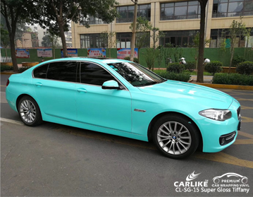 CARLIKE CL-SG-15 SUPER GLOSS TIFFANY CAR WRAPPING VINYL For BMW