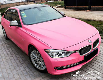 CARLIKE CL-SM-17 SUPER MATTE PINK CAR WRAP VINYL For BMW