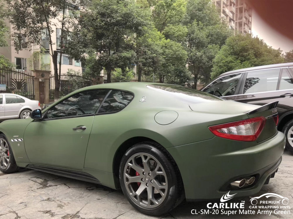 CARLIKE CL-SM-20 SUPER MATTE ARMY GREEN VINYL