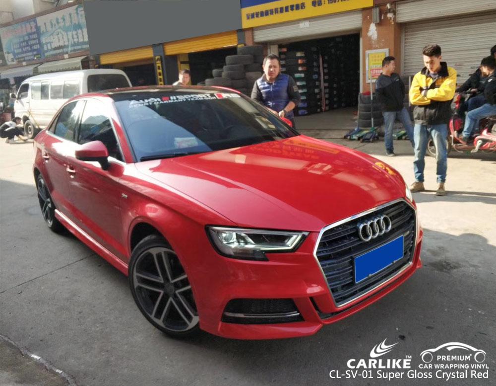 CARLIKE CL-SV-01 vinilo rojo súper brillante para Audi