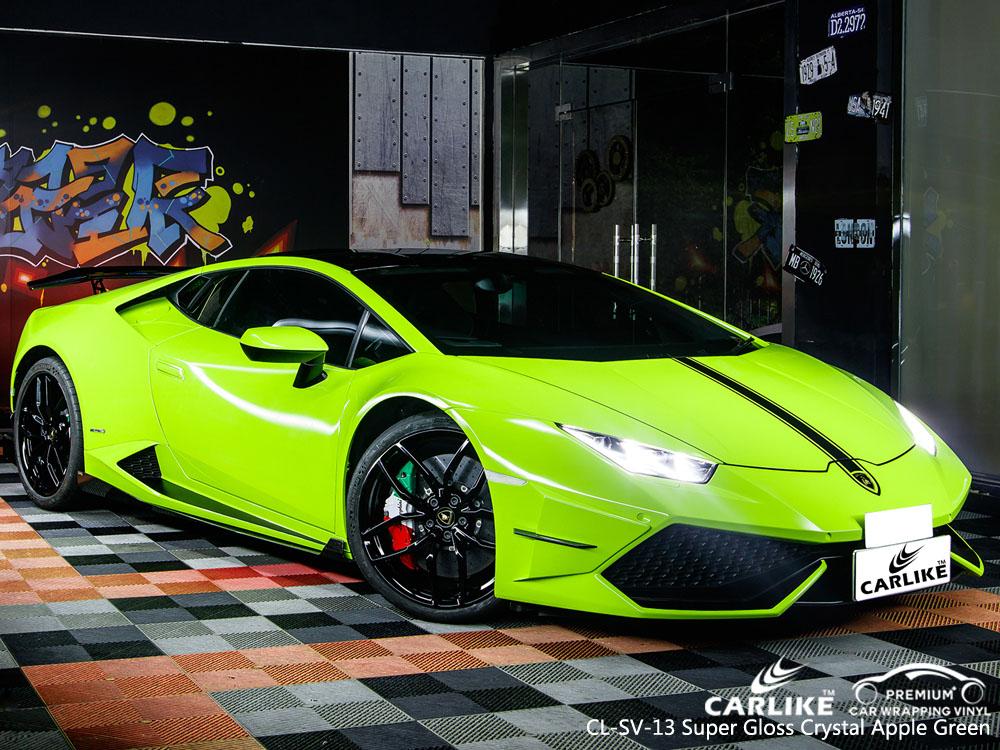 CARLIKE CL-SV-13 SUPER GLOSS CRYSTAL APPLE GREEN CAR WRAP VINYL