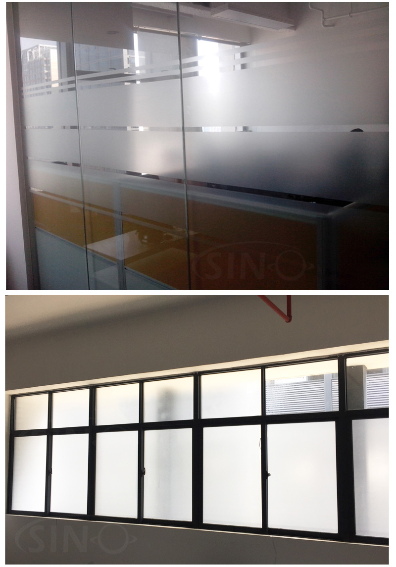 Matte Frosted Silver Grey Glass Window Vinyl Film Sino Vinyl