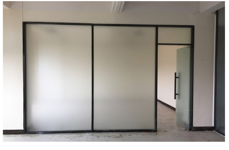 Matte Frosted Silver Grey Glass Window Vinyl Film