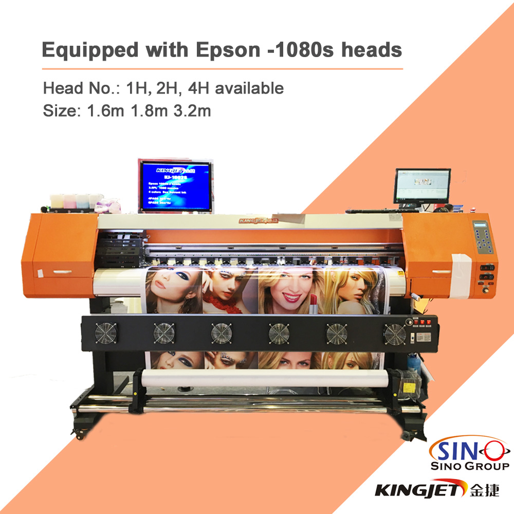 KINGJET XP600 1080S Printhead Eco Solvent Printer