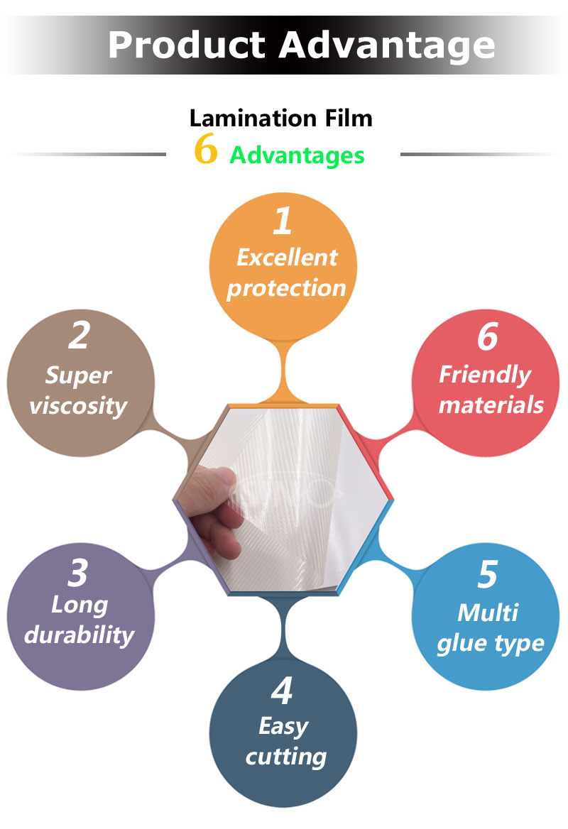 PVC Material Self Adhesive Cold Laminated Vinyl