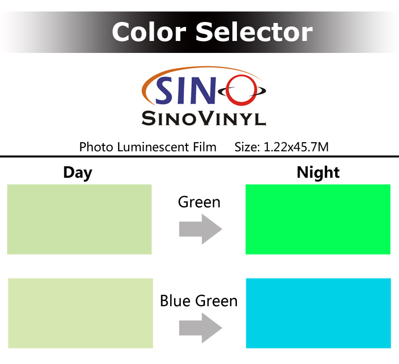Glow In Dark Graphic Photo Luminescent Vinyl Film