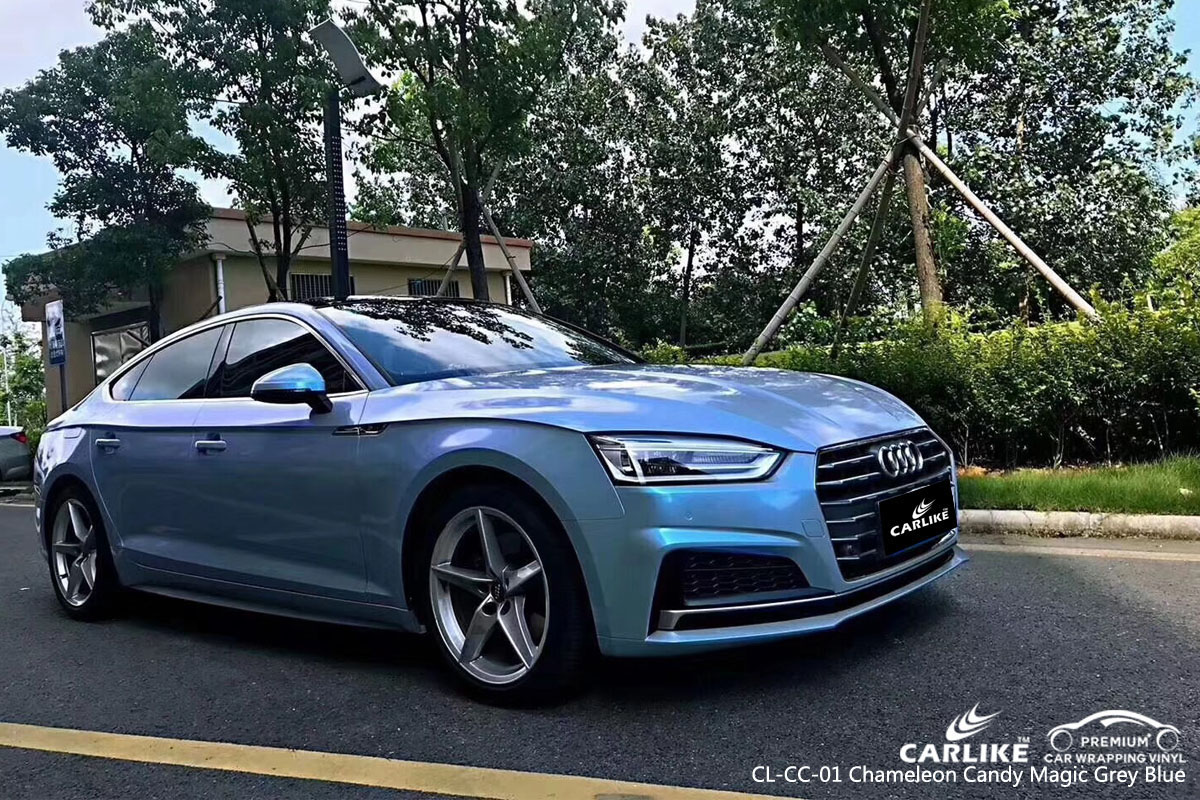 CARLIKE CL-CC-01 CHAMELEON CANDY MAGIC GRAY BLUE VINYL FOR AUDI