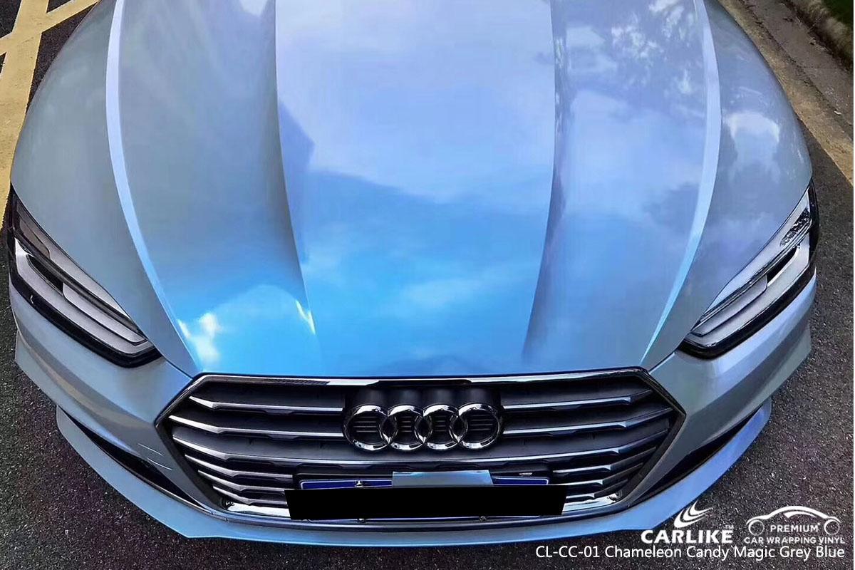 CARLIKE CL-CC-01 CHAMELEON CANDY MAGIC GRAY BLUE VINYL FOR AUDI