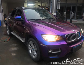 CARLIKE CL-CE-13 GLOSS CHAMELEON DARK BLUE TO PURPLE VINYL FOR BMW