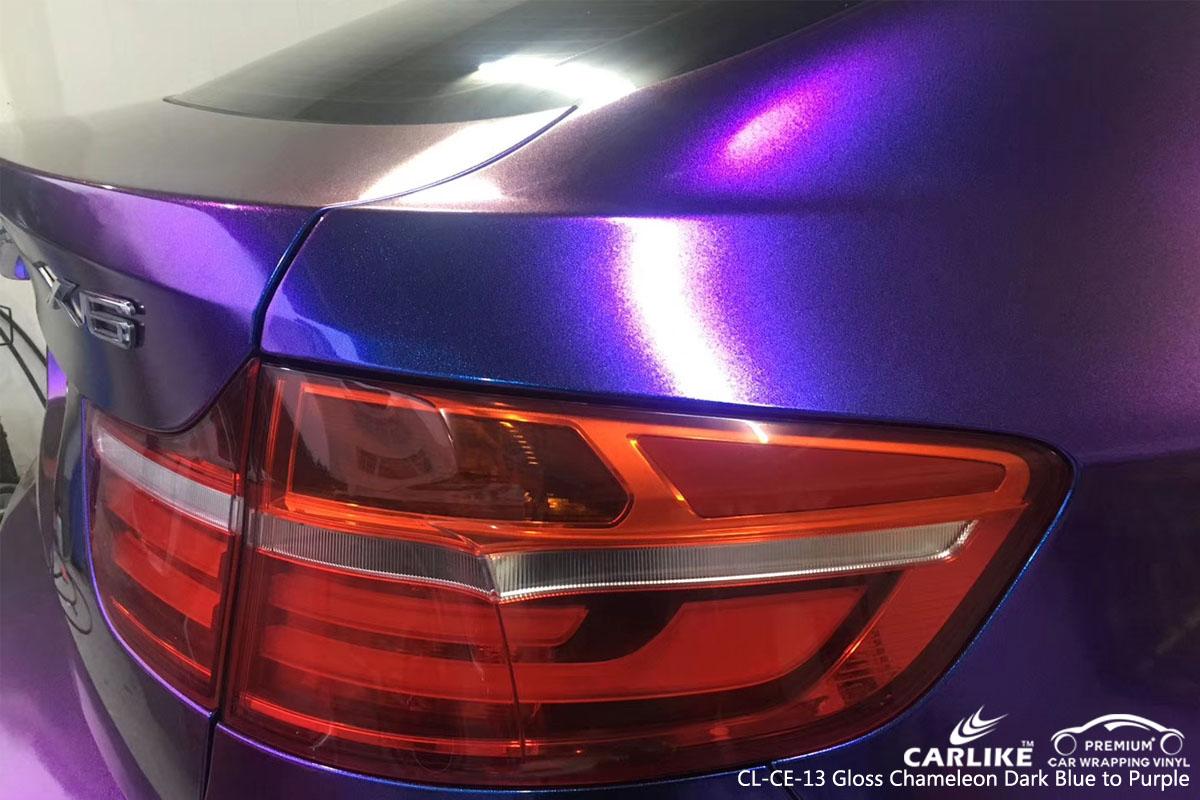 CARLIKE CL-CE-13 GLOSS CHAMELEON DARK BLUE TO PURPLE VINYL FOR BMW