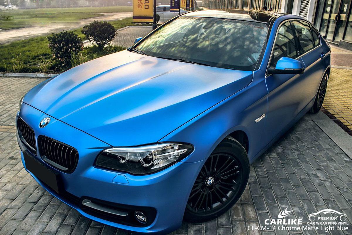 CARLIKE CL-CM-14 CHROME MATTE LIGHT BLUE VINYL FOR BMW