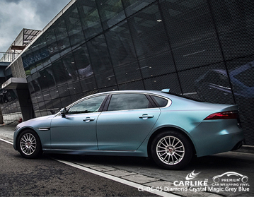 CARLIKE CL-DC-05 vinil azul cinzento mágico do envoltório do carro do cristal de diamante