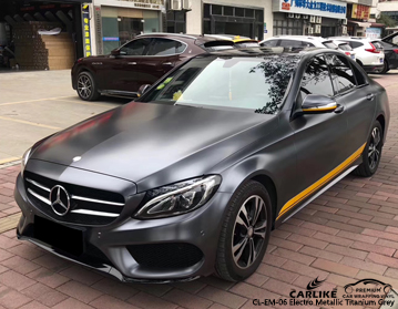 CARLIKE CL-EM-06 ELECTRO METALLIC TITANIUM GRAY VINYL FOR MERCEDES-BENZ