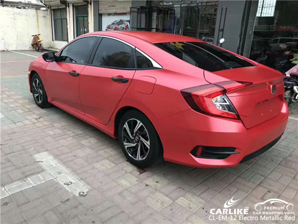 CARLIKE CL-EM-12 ELECTRO METALLIC RED VINYL FOR HONDA