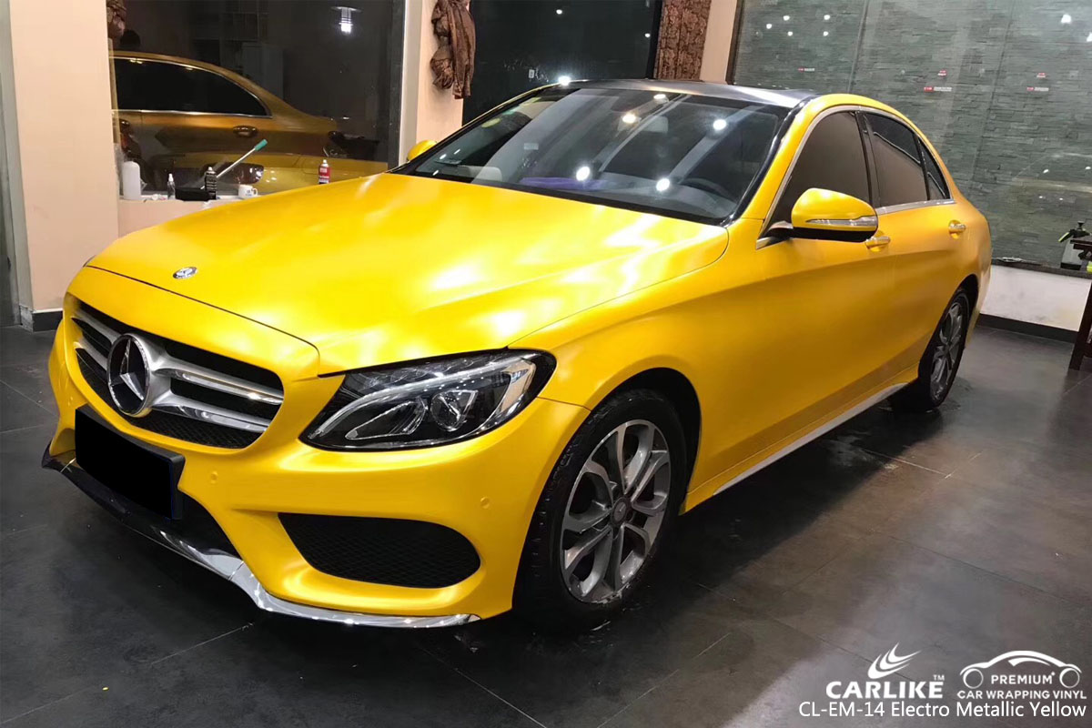 CARLIKE CL-EM-14 ELECTRO METALLIC YELLOW VINYL FOR MERCEDES-BENZ
